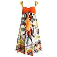Jean Paul GaultierVintage 1990s Parrot Print 90s Empire Waist Boho Dress