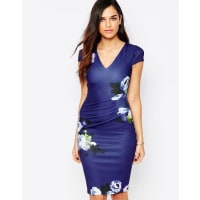 Jessica WrightAbi Floral Pencil Dress With Ruched Waist - Multi