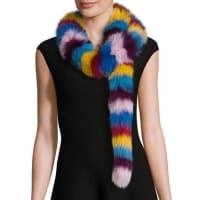 JocelynFox Fur Scarf, Multicolor