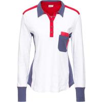 John Baner JeanswearPoloshirt in wit foor Dames - John Baner JEANSWEAR