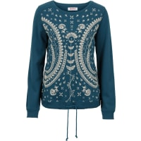 John Baner JeanswearDames sweatshirt lange mouw in petrol - John Baner JEANSWEAR