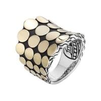 John HardyDot Silver & 18k Gold Saddle Ring, Size 7