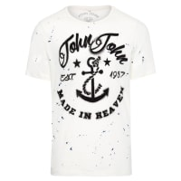 John JohnT-shirt Masculina Rg Marine - Off White