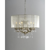 John-Richard6-Light Veiled Shade Chandelier