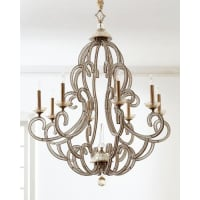 John-RichardBeaded Elegance 8-Light Chandelier