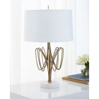 John-RichardTwisted Brass Bloom Table Lamp