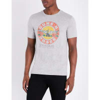 SelfridgesJOHN VARVATOS Guns N Roses jersey t-shirt, Mens, Size: Small, Grey Heather