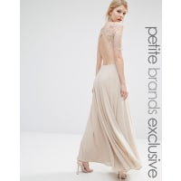 John ZackLace Bodice Maxi Dress With Cut Out Detail - Caramac