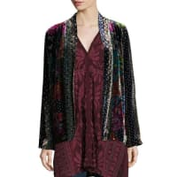 Johnny WasTappa Silky Velvet Print Jacket