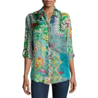 Johnny WasBrightwood Printed Blouse