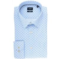 JoopJOOP! Hemd Slim Fit hellblau/blau, gepunktet und gestreift