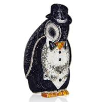 Judith LeiberAlfred Penguin Evening Clutch Bag, Black/Silver
