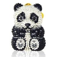 Judith LeiberLing Panda Pillbox, Black/White
