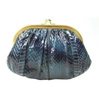 Judith LeiberNavy Blue Snakeskin Evening Bag