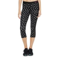 Juicy CoutureTossed Dot/pitch Black Crop Legging W Pocket by Juicy Couture, M