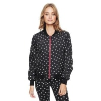 Juicy CoutureTossed Dot/pitch Black Reversible Bomber by Juicy Couture, L