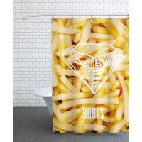 JuniqeDiamonds and French Fries-Duschvorhang