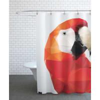 JuniqeGeo Parrot Red-Duschvorhang