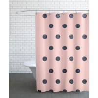 JuniqeShiny Polk Dots On Pink-Duschvorhang