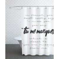JuniqeTu Me Manques-Duschvorhang