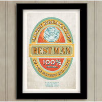 Just For YouBest Man Beer Label Wedding Print