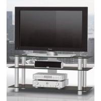 Just-RacksTV-Rack, Just Racks, Breite 120 cm, schwarz, Schwarzglas