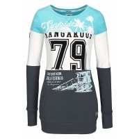 KangaroosLongsweatshirt mit großem Frontprint, bunt, anthrazit-hellblau-weiß