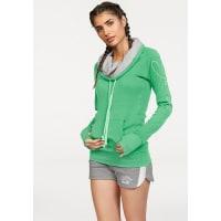 KangaroosLongsweatshirt mit doppeltem Kragen, grün, hellgrün