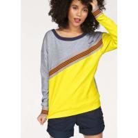 KangaroosSweatshirt mit sportlichem Ripp-Streifen, grau, grau-meliert-gelb
