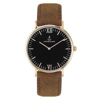 Kapten & SonCampus Black Brown Vintage Leather Watch Brown
