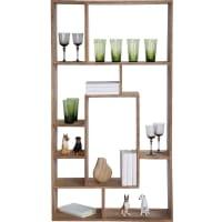 Kare DesignBoekenkast Authentico - Hoogte 150 x B80 x D25 cm - Massief Sheesham hout