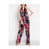 Karen MillenFloral Print Silk Jumpsuit - Multicolour, Size 8