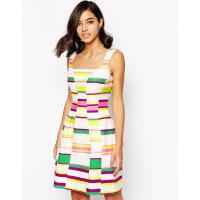Karen MillenDress in Bold Stripe - Multicolour