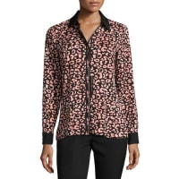 Karl LagerfeldPrinted Button-Front Shirt, Multi