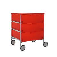 KartellMobil 3 Drawer Wheels - Orange
