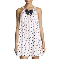 Kate Spade New Yorkdot-print flannel chemise, pink shadow