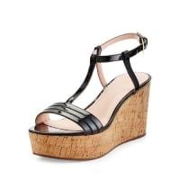 Kate Spade New Yorktallin patent platform sandal, black