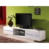 Venta-Unica.comMueble TV PEGAZE - MDF lacado blanco - Luces led - 4 cajones