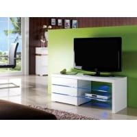 Venta-Unica.comREBAJAS-Mueble TV FAISCEAU - 3 cajones - Lacado blanco - Leds