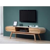 Venta-Unica.comMueble de TV DAVEN - 2 cajones y 1 hueco - Patas de fresno - Color natural