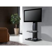 Venta-Unica.comSoporte de pared para TV CINETIQUE - 1 repisa - MDF y acero - negro