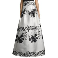 Kay UngerFloral-Print Ball Skirt