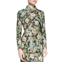 Kay UngerLong-Sleeve Crisscross Floral Bolero