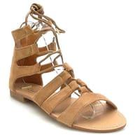 Kayla ShoesKayla shoes Damen Schuhe Sandalen Roemersandalen Glitter LL89 Camel 39