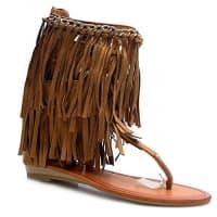 Kayla ShoesKayla shoes Sandaletten Fransen Sandale Schuhe LL79Camel 40
