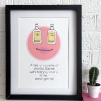 Kelly Connor DesignsHappy Gin Print