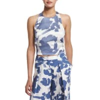Kendall + KylieHalter-Neck Printed Tank Top, Tempest