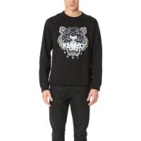 KenzoKenzo Embroidered Tiger Crew Sweatshirt - Black