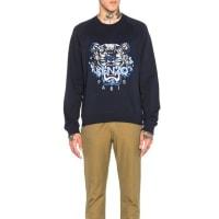 KenzoMoon Map Tiger Sweatshirt in Blue