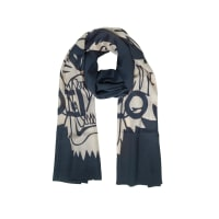KenzoWool and Silk Crest Tiger Stole